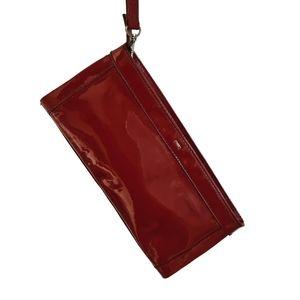 Diana Ferrari Red Vinyl Clutch Wristlet